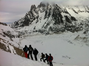 vallee blanche flat light