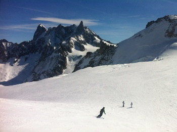 vallee blanche spring snow