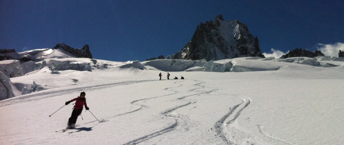 vallee blanche poudreuse