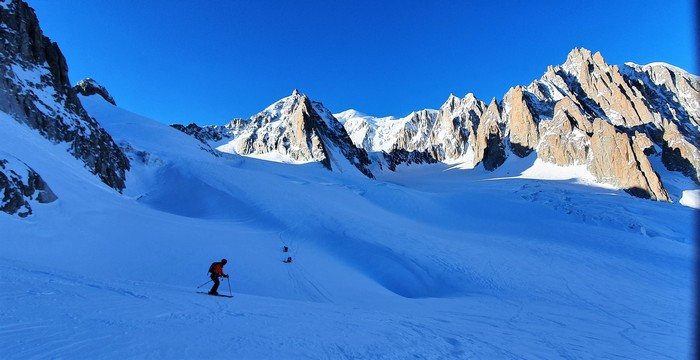 ski touring vallee blanche