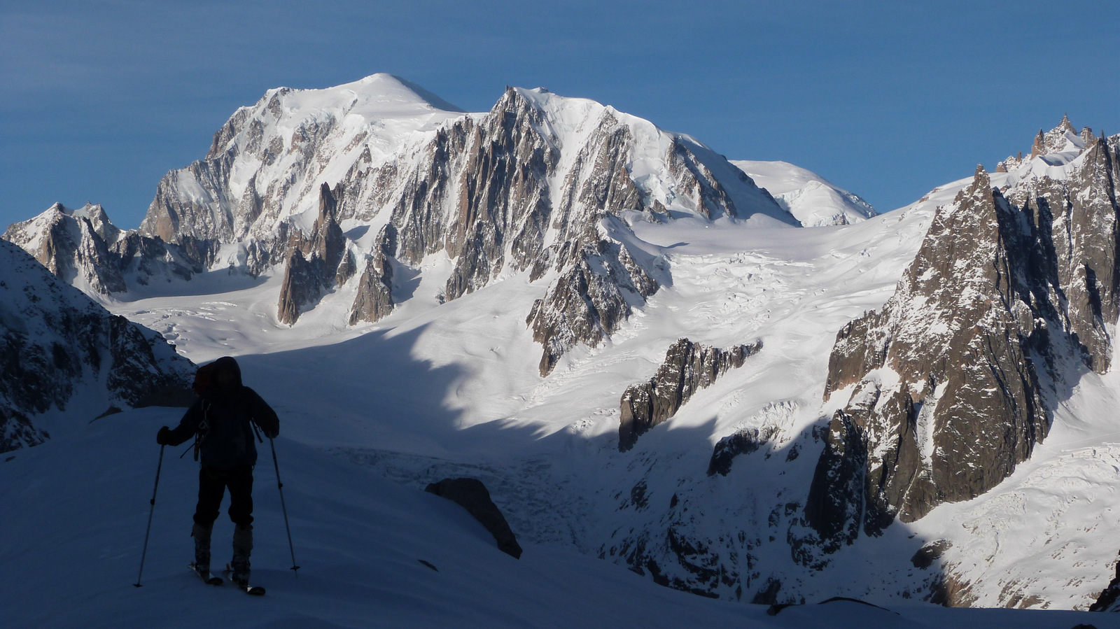 vallee blanche ski touring