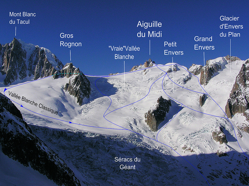 vallee blanche routes hors pistes